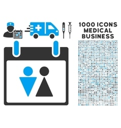 Toilet calendar day icon with 1000 medical vector