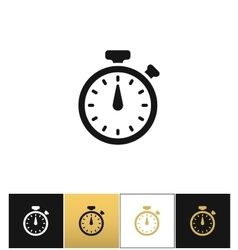 Stopwatch sign or quick accurate analogue clock vector