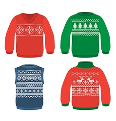 Christmas pattern sweaters vector image