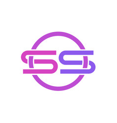 s logo icon design vector image