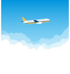 plane in the sky vector image