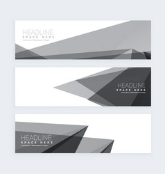 Abstract black and white banners vector