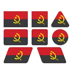 Buttons with flag of angola vector