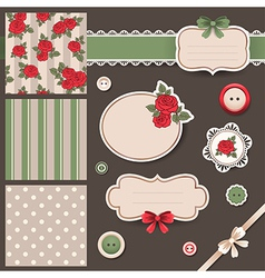 Scrap book set vector image