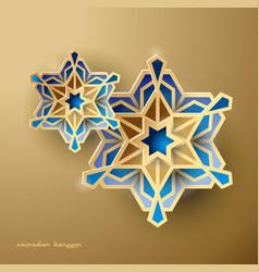 Geometric art islamic design background vector