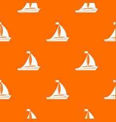 Sailing ship pattern seamless vector