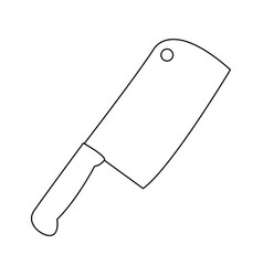 Axe for meat kitchen object culinary vector