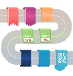 Set of colored label stickers vector image