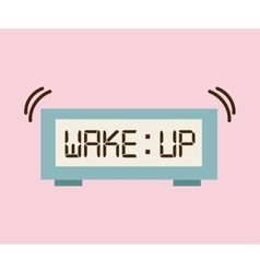 Wake up design vector