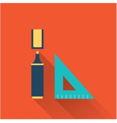 marker and ruler vector image