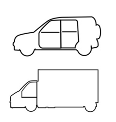 Transport symbols vector