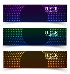 Web banners one two three presentation vector