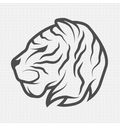 The tiger symbol logo vector image
