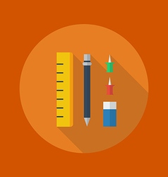 Education flat icon stationary vector