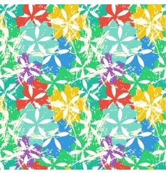 Colorful flower pattern vector