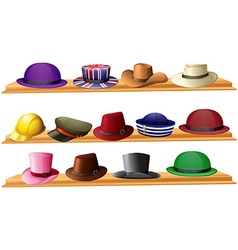 Different kind of hats vector