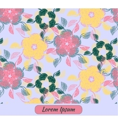 Card with floral decoration and place for text vector