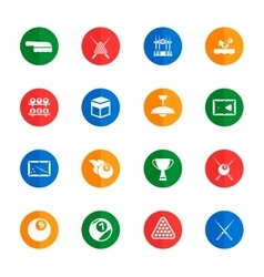 Billiards simply icons vector