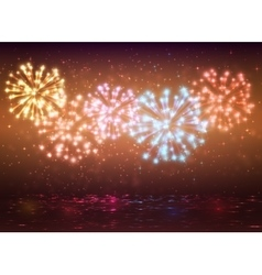 Sparkle colorful fireworks design vector