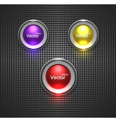 Colorful glossy buttons lightbulb for your site vector