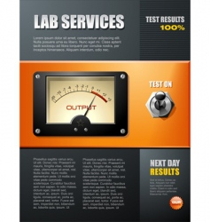 Lab service brochure vector
