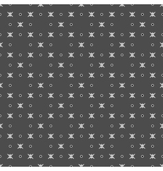 Star and polka dot geometric seamless pattern 52 vector