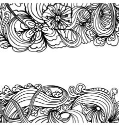 Doodle horizontal ornamental frame for banner vector