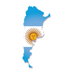 Argentina flag amp map vector