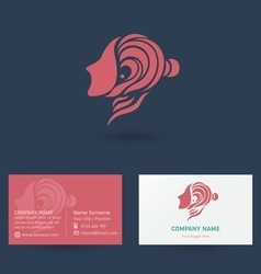 Beauty business card vector