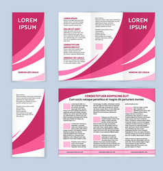 blank trifold paper leaflet vector image vector image
