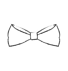 Bowtie elegance hipster wear icon vector