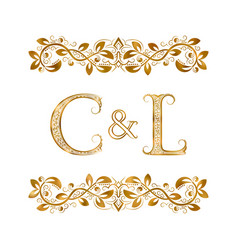 C and l vintage initials logo symbol the letters vector