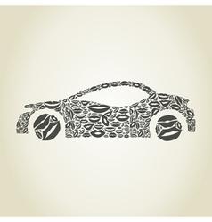 Car a lip vector image vector image