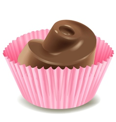 Chocolates in a pink cup vector