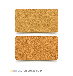 Cork board texture business card vector
