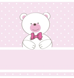 Cute grey teddy bear with patch vector image