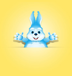 Cute rabbit in the paper pocket vector
