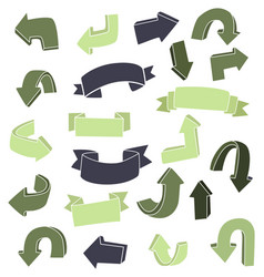 Dooddle arrow set vector