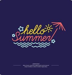 Emblem Hello summer vector image
