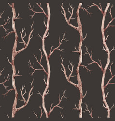 Fall trees pattern vector