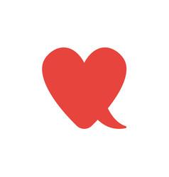 Flat design style concept of heart-shaped speech vector