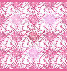 Half tone pattern with dots in pink - monochrome vector