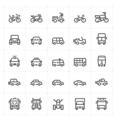 Icon set - vehicle and transport vector