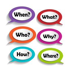 icons with questions vector image
