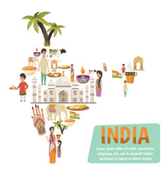 India map design concept vector