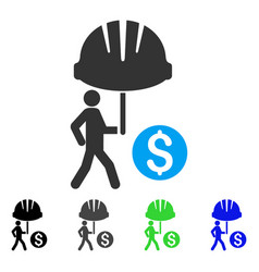 Industrial financial coverage flat icon vector
