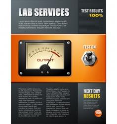 Lab service brochure vector