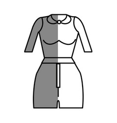 Line fashion blouse and short cloth style vector