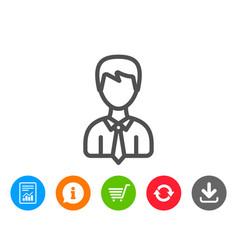 Male user line icon male profile sign vector