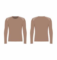 Mens brown long sleeve t shirt vector